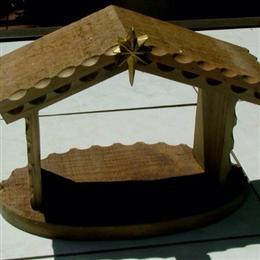 Wooden Crèche