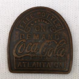 FREE BOTTLE ON DEMAND COCA COLA TOKEN ATLANTA GA. CA. 1859~REPRODUCTION