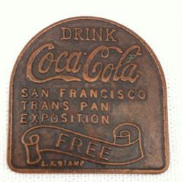 FREE BOTTLE ON DEMAND COCA COLA TOKEN San Francisco Trans Pan Exposition