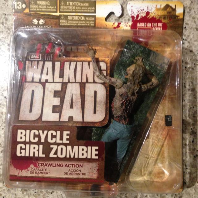 Walking Dead TV Series 2 Action Figure Bicycle Girl Zombie