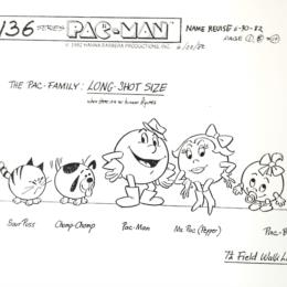 Pac-Man Cartoon: The Pac Family Long Shot Size sketch