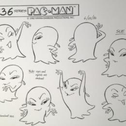 Pac-Man Cartoon: Sue the Ghost Monster sketch