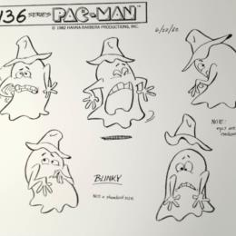 Pac-Man Cartoon: Ghost-Monster Blinky sketch