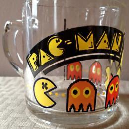 Libby Pac-Man clear glass mug