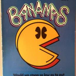 Bananas Magazine #58 with Pac-Man on the cover
