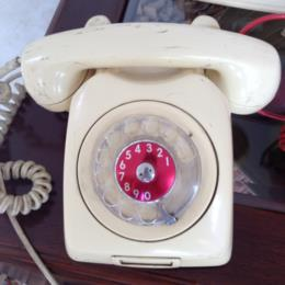 Vintage White Telephone