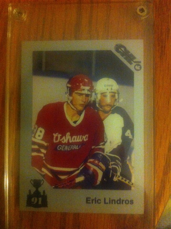 Eric Lindros 1991 Memorial Cup Card #119 (Broken out of set)