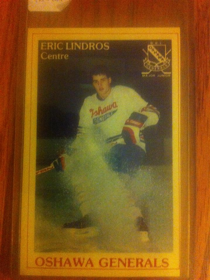Eric Lindros Oshawa General 'Police' Card #31