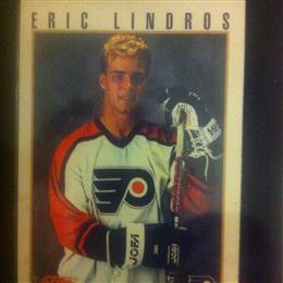 Eric Lindros 1992 Score Press Conference Card