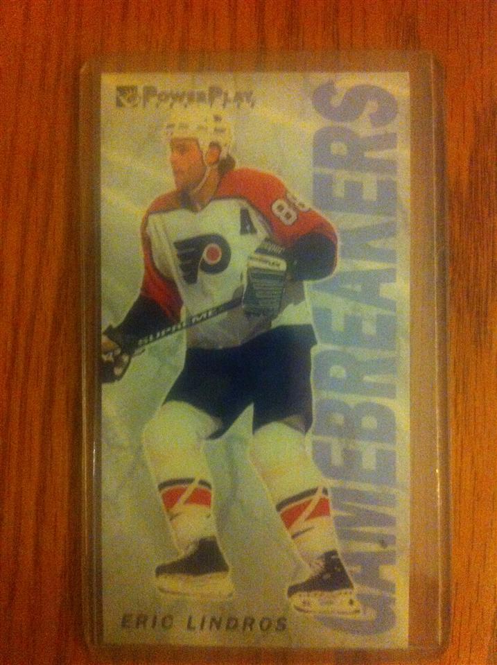 Eric Lindros 1994 Fleer Gamebreakers Card #6 of 10