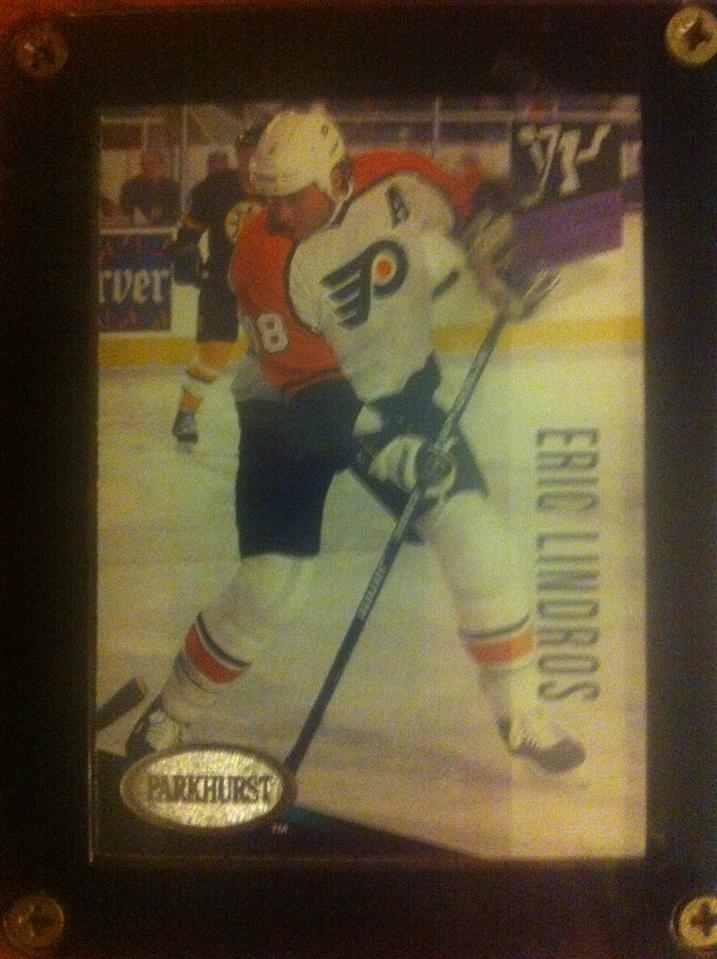 An Eric Lindros 1993 Parkhurst Sensational Sophomores Silver Card #236