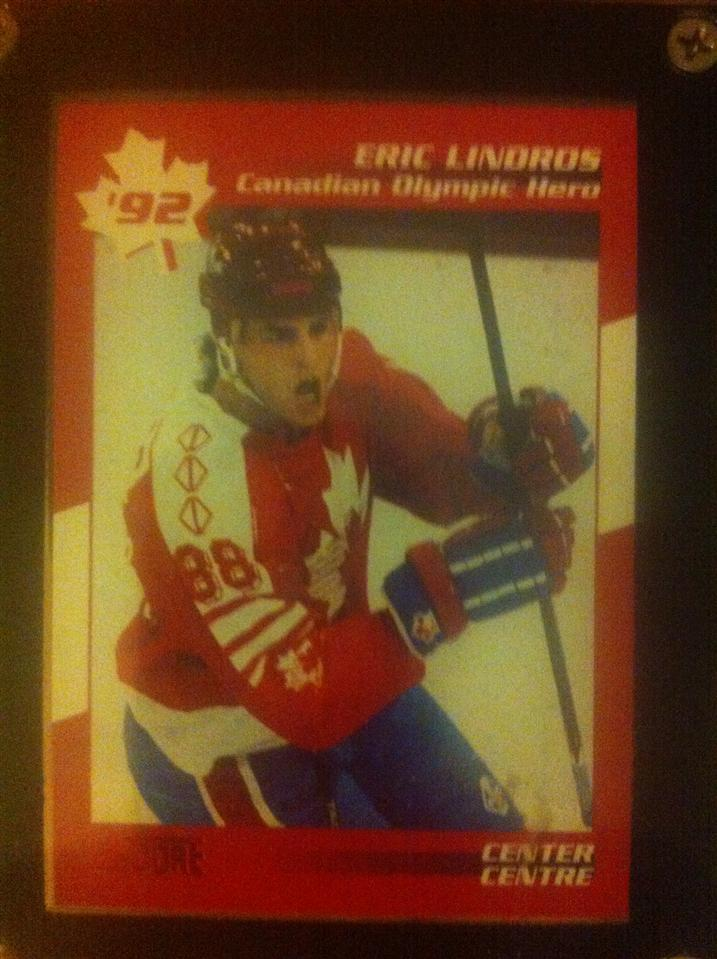 Eric Lindros 1992 Score Canadian Olympic Hero Card #1 of 13