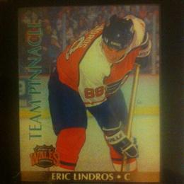 Eric Lindros 1992 Team Pinnacle Card #5 of 6 (English version)