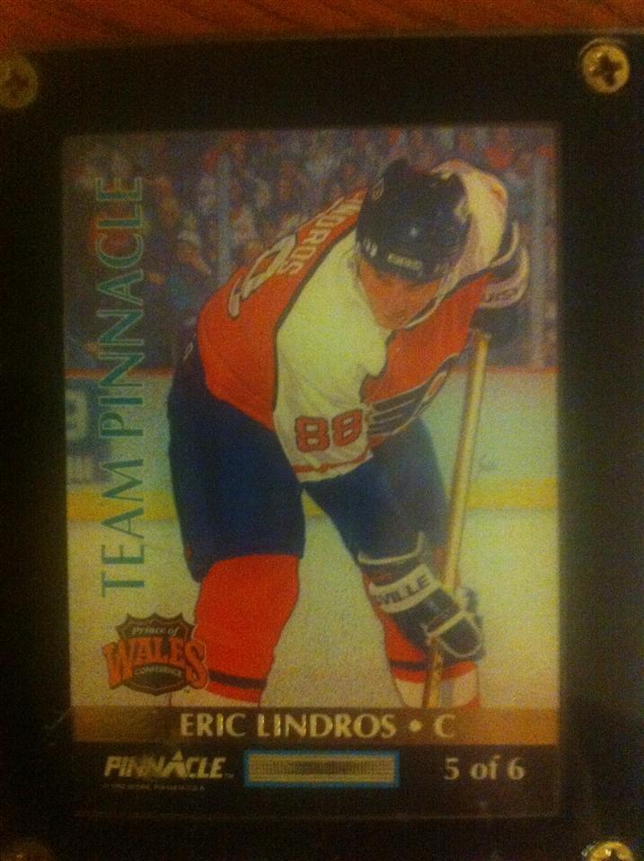 Eric Lindros 1992 Team Pinnacle Card #5 of 6 (English version)