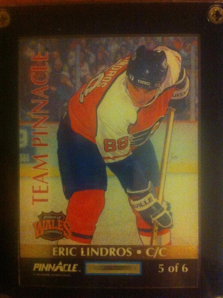 Eric Lindros 1992 Team Pinnacle Card #5 of 6 (French Canadian version)
