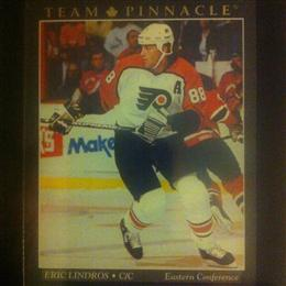 Eric Lindros 1994 Team Pinnacle Card #11 of 12 (French Canadian version)