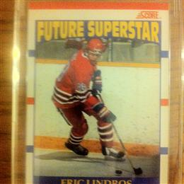 Eric Lindros 1990 Score Future Superstar Card #440 (Rookie Card - French Candian version)