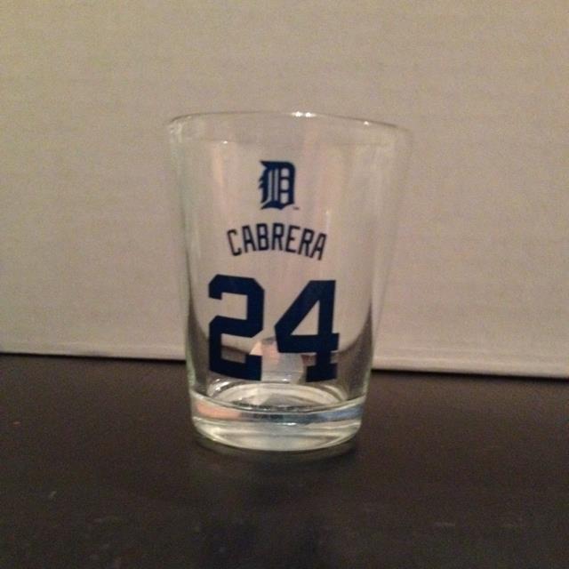 Cabrera 24 Detroit Shot Glass