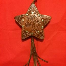WL Leather Star Ornament