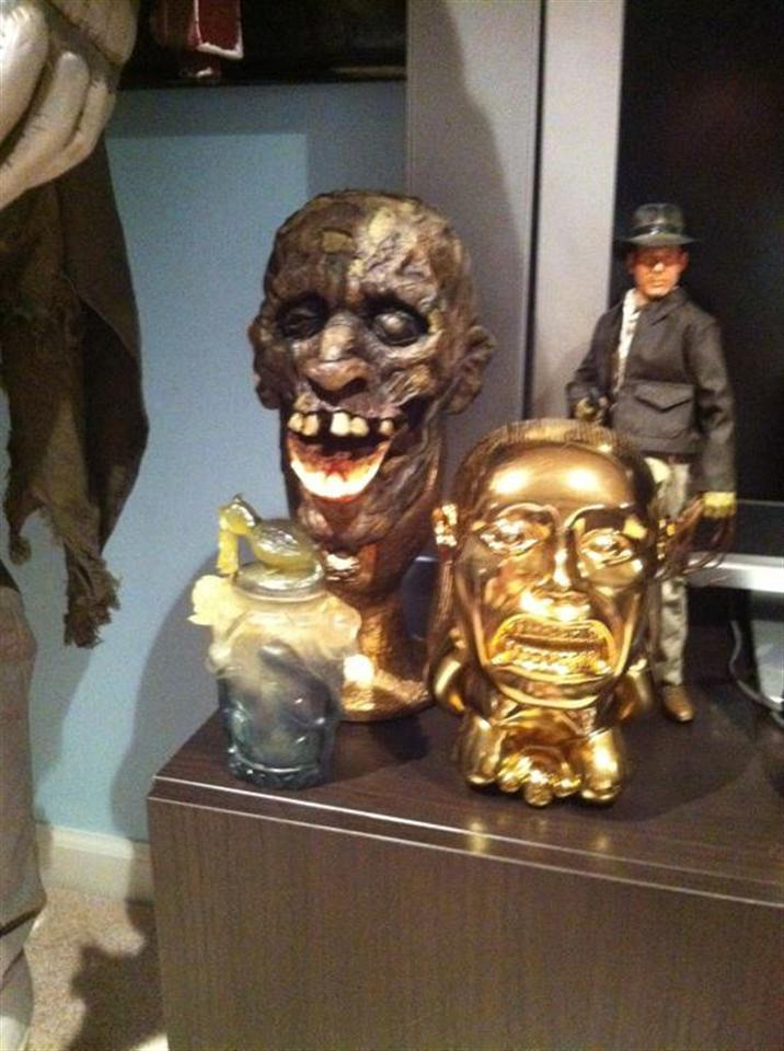 Indiana Jones Props (Chalice of Kali, Fertility Idol and Nurachi Urn)