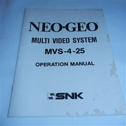 Neo-Geo MVS-4-25 Operation Manual