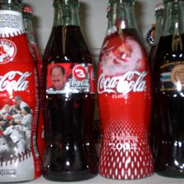 "Coca-Cola hobbleskirt 8oz ""presentation"" bottles"