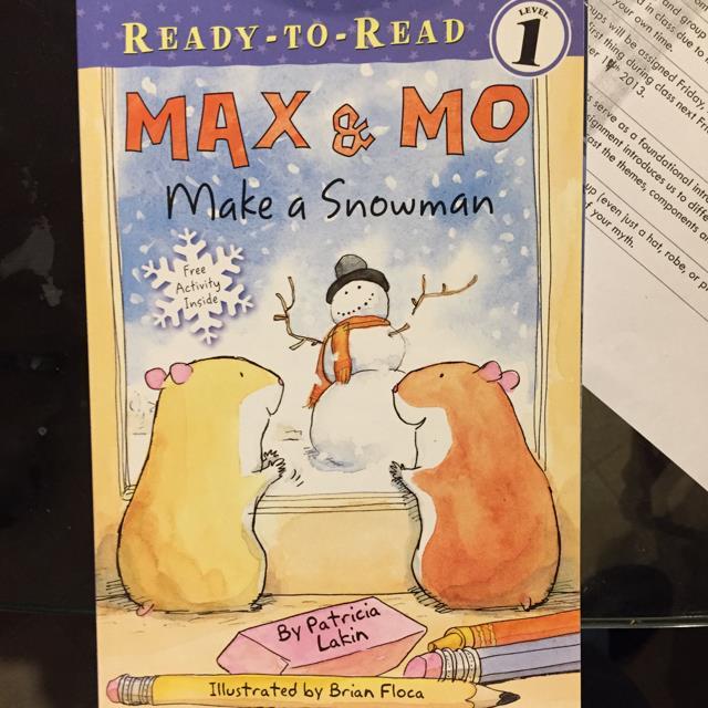 Max & Mo Make a Snowman