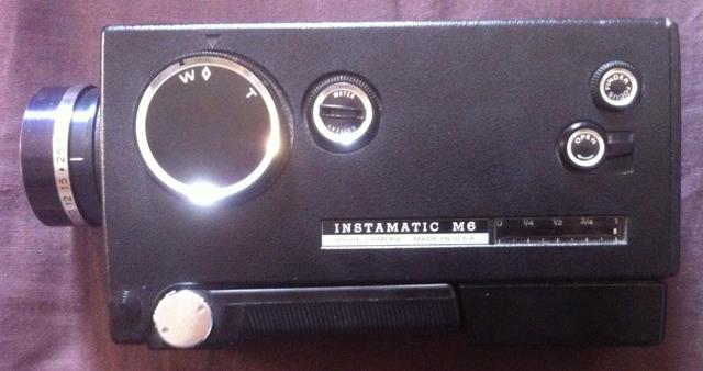 """Instamatic M6"" 8mm Movie Camera"