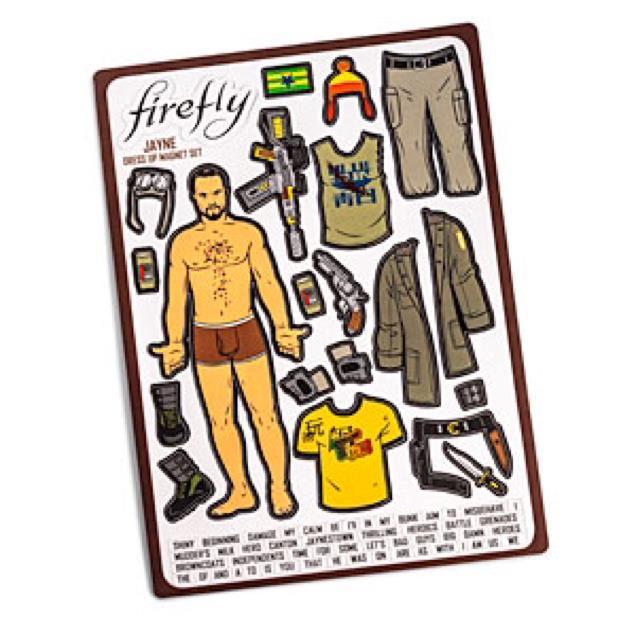 Firefly Jayne Dress-Up Magnets