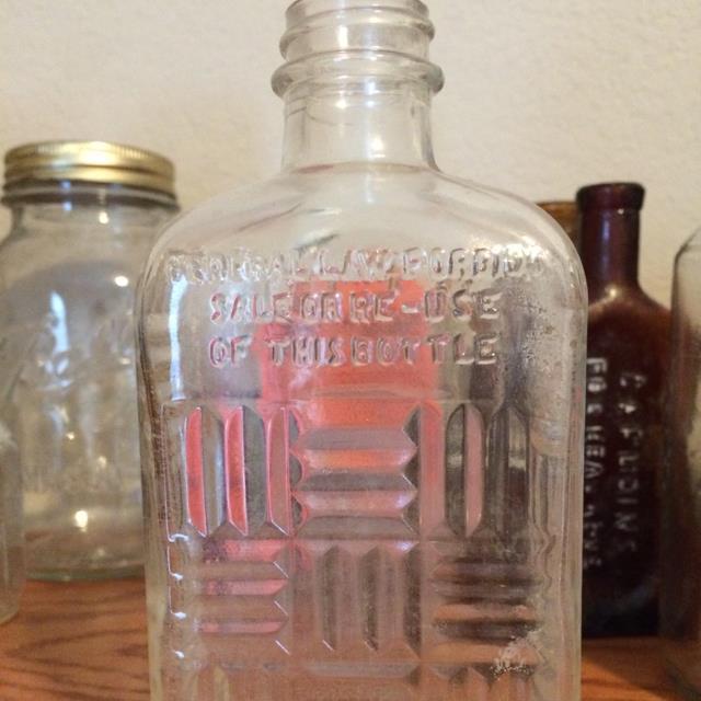 Old Glass Medicine Bottle