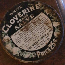 White Cloverine Salve Tin