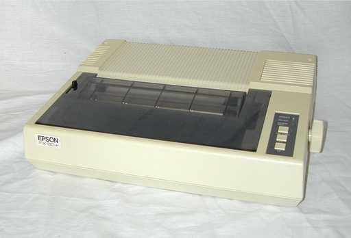 epson fx-80 (the epson fx-80 dpt matrix printer from 1984, piared