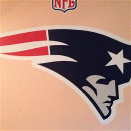 Patriots Fathead in my Patrots Man Cave