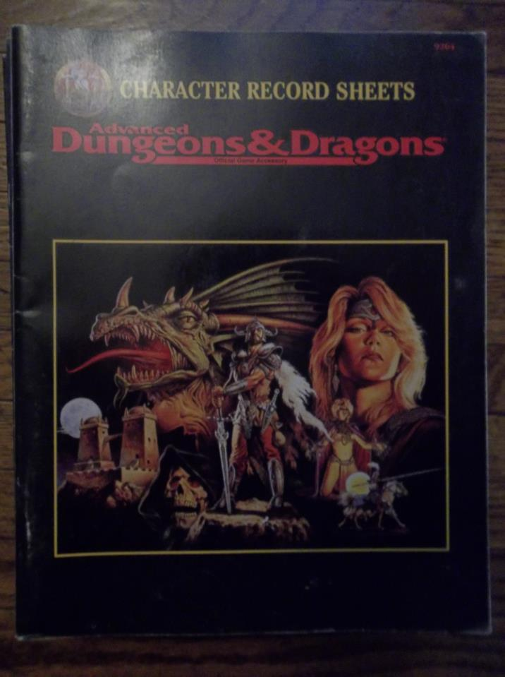 AD&D Character Record Sheets