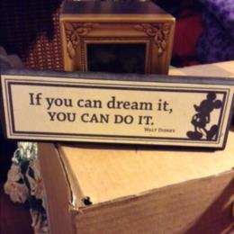 Hallmark Disney If You Can Dream It Sign