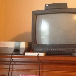 NES console with TV