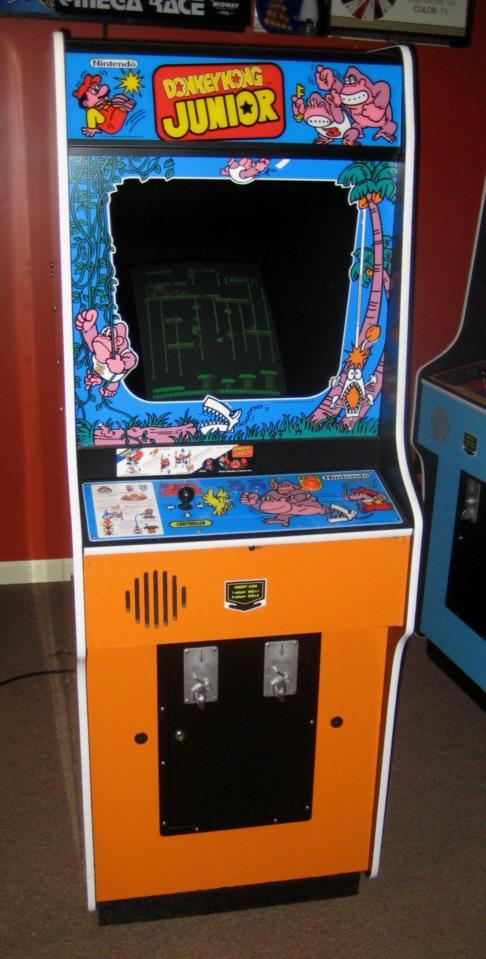 Nintendo Donkey Kong Jr Upright Arcade Game Restored Very Nice