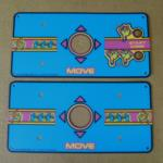 Ms. Pac-Man Cocktail Arcade Game Control Panel Overlay Set, CPO for sale