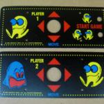Midway Pac-Man Cocktail Arcade Game Control Panel Overlay Set, CPO for sale