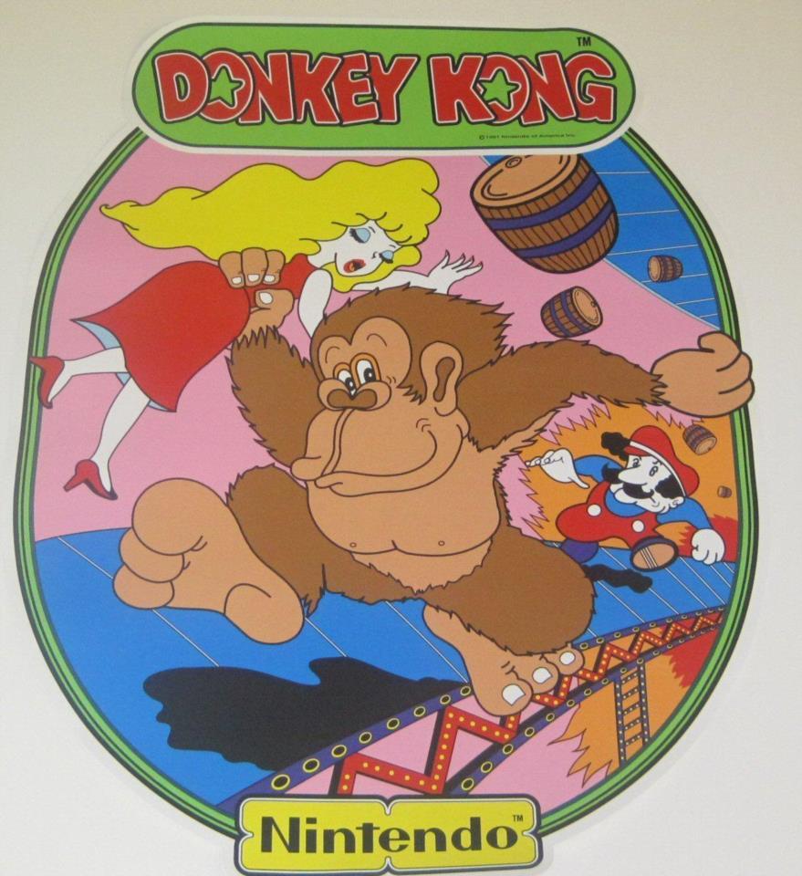 Nintendo Donkey Kong Arcade Game Sideart Decal Artwork for