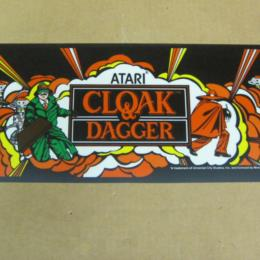 Cloak and Dagger Arcade Marquee by Atari, Header, 1983 for sale