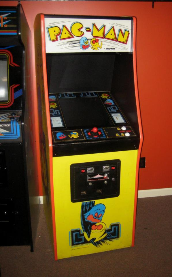 Pac Man Midway Upright Arcade Game Dedicated Cabinet