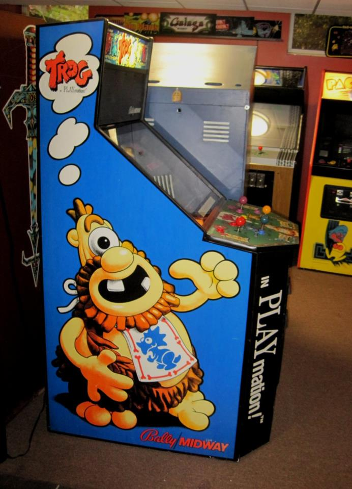 Stupendous Trog Bally Midway Upright Arcade Game Dedicated Cabinet Great Artwork Rare Game Download Free Architecture Designs Rallybritishbridgeorg